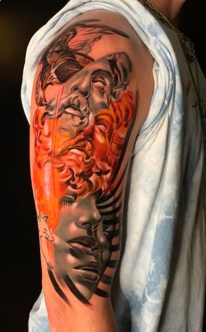 Prometheus #wip #ttism #ttt #tattoodesign #tattooidea #buddha #tattooage #tattooflash #enlightenment #universe #blxckink #surrealism #london #cooltattoos #blackandwhite #besttattoos #txttoo #londontattoo #bodyartmag #femaletattooartist #ttblackink #blackworker
