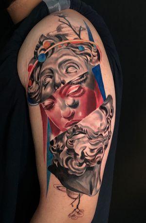 The gods #wip #ttism #ttt #tattoodesign #tattooidea #buddha #tattooage #tattooflash #enlightenment #universe #blxckink #surrealism #london #cooltattoos #blackandwhite #besttattoos #txttoo #londontattoo #bodyartmag #femaletattooartist #ttblackink #blackworker