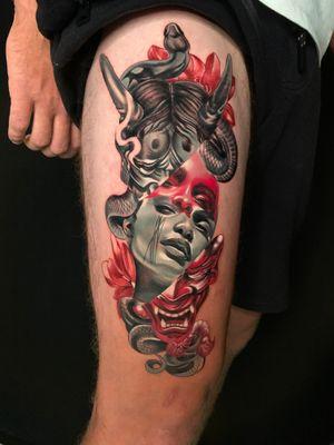 Hanya #wip #ttism #ttt #tattoodesign #tattooidea #buddha #tattooage #tattooflash #enlightenment #universe #blxckink #surrealism #london #cooltattoos #blackandwhite #besttattoos #txttoo #londontattoo #bodyartmag #femaletattooartist #ttblackink #blackworker