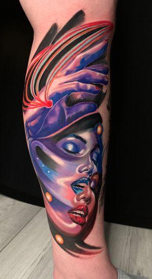 Surreal #wip #ttism #ttt #tattoodesign #tattooidea #buddha #tattooage #tattooflash #enlightenment #universe #blxckink #surrealism #london #cooltattoos #blackandwhite #besttattoos #txttoo #londontattoo #bodyartmag #femaletattooartist #ttblackink #blackworker