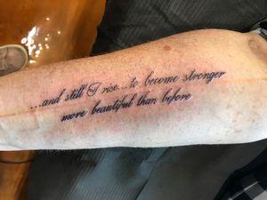 Custom script tattoo.