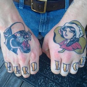 Healed hand and knuckles