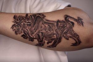 Korean bull #bulltattoo