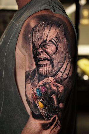 Thanos  #thanos #comictattoo #blackandgreytattoo #blackandgrey #realism