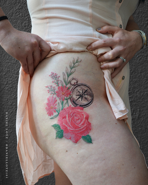 Rose Romance . . . #lovely #colorrose and #flowertattoo by @daniellotz101 . . . @flashheal @creamtattoosupplyza @tattooinc.co.za @ecotatpro @electrumstencilproducts @dynamiccolor @blackclaw @south_african_tattoo_society . . . FOR BOOKINGS : Email: info@kakluckytattoos.com Call: 021 422-2963 . . . #tattoo #tattoos #kakluckytattoos #mood #lekker #capetowntattoos #mood #love #staysafe #art #artists #wecandothis #belekker #safetyfirst #covid19prepared #goodvibes #keepsafe #art #artist #beauty #bigmood #instagood #instadaily #nature #picoftheday #photography #capetown #420 #colourtattos #girlswithtattoos