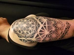 Geometric Metatrons Cube Tattoo By Nathan Emery, San Francisco