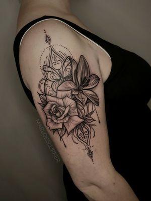 Rose & Lily ornamental arm piece