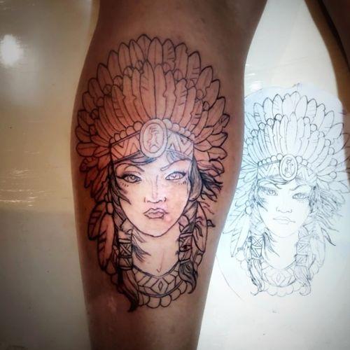 cabei de fazer esta, um desenho mais de traço continuo bastante legal, vamos marcar uma tattoo? . . . . #tattoo #betim #partageshopping