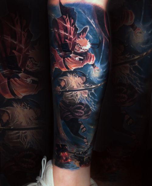 Nature. IG:cathy _tattoo . . . . . . . . #narutotattoo #nuratodesign #animetattoo #animedesign #tattoocolor #realistictattoos #animetattoos #newschooltattoos #tattooideasforguys #narutotattoo