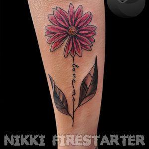 Love me daisy~🌼🌿 . . . . #daisy #DaisyTattoo #ColorTattoo #pink #FineLineTattoo #flower #floral #FloralTattoo #FlowerTattoo #plants #nature #tattoos #BodyArt #BodyMod #modification #ink #art #QueerArtist #QueerTattooist #MnArtist #MnTattoo #VisualArt #TattooArt #TattooDesign #TheTattooedLady #TattooedLadyMN #NikkiFirestarter #FirestarterTattoos #firestarter #MinnesotaTattoo