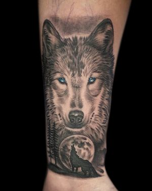 Wolf coverup of a scar