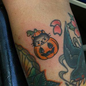 Pumpkin kitty. From my Halloween flash.