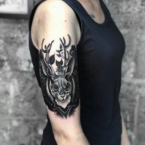 Rabbit tattoo Inst tattoo artist: @flyrosetattoo #rabbittattoo #blackandgreytattoo #tattoo #tattoowork #inktattoo #greytattoo #thebesttattoo #flyrosetattoo #skulltattoo #tattoostyle #wowtattoo #crazytattoo