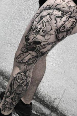 Wolf tattoo  #rayasouza #lisbontattoo