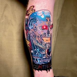 Terminator Pop Realism Tattoo done in 12 hours