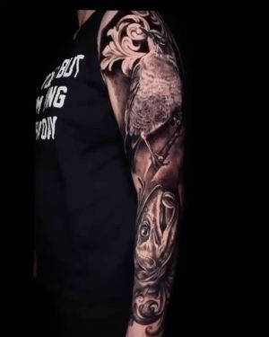 Check out this awesome sleeve that Nestor is working on. • • • ________________________________________________________Free Consult - By appointment only! ☎️ 6045597708 or 📩silverbonestattoo@gmail.com ________________________________________________________Artist: @nestor_ace ________________________________________________________#vancouvertattoo#vancitytattoo#portrait#blackandgrey#vancouvertattooartist#mountpleasantbia
