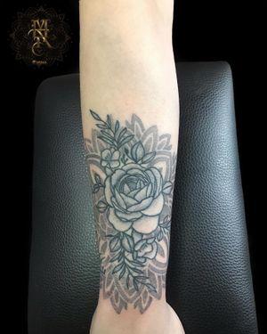 Mandala Peony Tattoo Done with Primus by Sunskin MAR TATTOO INK