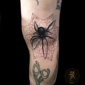 Spider Mandala Tattoo Done with Stilo Pen by Sunskin MAR TATTOO INK