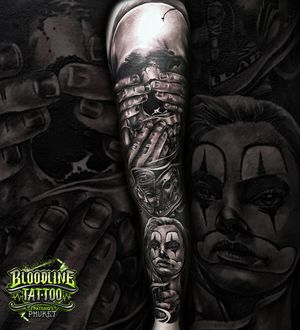 Skull And Chicano Leg Sleeve