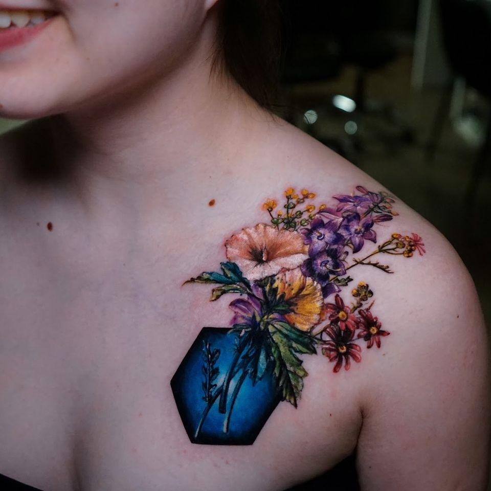 Flowers cover-up by Ksu Arrow