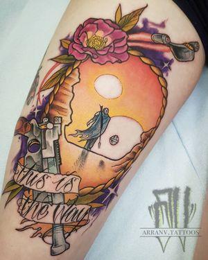 Arranv.tattoos@gmail.com #mandalorian #starwars #starwarstattoo