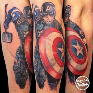 #captainamerica #marvelcomics #color #colortattoo #realistic #tattooart #tattooartist #czechtattoo