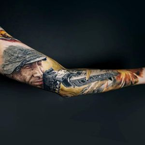Army/ Soldier Tattoo Sleeve
