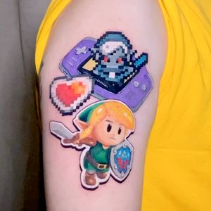 Link from Legend of Zelda Retro Gaming Pop Tattoo