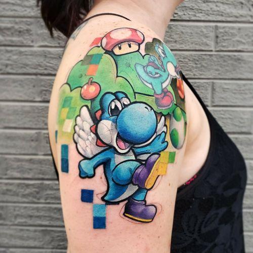 Yoshi add on! WIP #workinprogress #mariobros #mariobrothers #Nintendo #yoshi