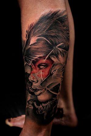Wolf queen portrait