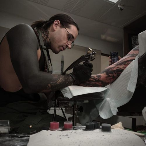 Tattoo in progress by Abel Miranda