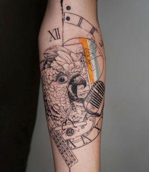 Illustrative tattoo by koittattoo #koittattoo #oneononeberlin #illustrative
