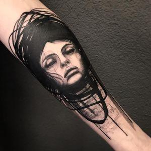 Illustrative tattoo by Paulina Kemnitz #PaulinaKemnitz #oneononneberlin #illustrative #portrait