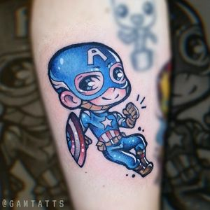 Captain America in my chibi style 💖
