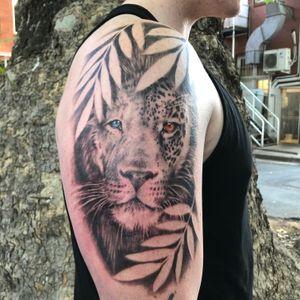 Lion/leopard piece.