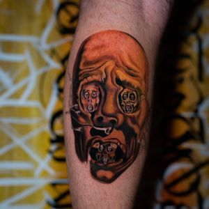"Salvador Dali Painting ""Face of War"" by @elekkstasy made with @bigsleepsink @bishoprotary"