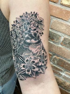 #Chickadee#aspens#columbineflowers#coloradotattoos