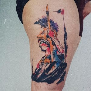 Tattoo by Rupe #Rupe #watercolor #sketch #illustrative #painterly