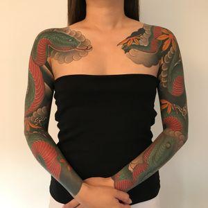 #tattoodo #tattooartist #japanesetattoo #tattoodoapp #radtattoos #snaketattoo