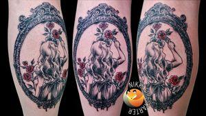 Alice, painting roses red. . . . . #alice #AliceInWonderland #roses #RedRose #BlackAndGray #PopOfColor #InkWash #PaintingTattoo #VintageFrame #tattoos #BodyArt #BodyMod #modification #ink #art #QueerArtist #QueerTattooist #MnArtist #MnTattoo #VisualArt #TattooArt #TattooDesign #TheTattooedLady #TattooedLadyMN #NikkiFirestarter #FirestarterTattoos #firestarter #MinnesotaTattoo