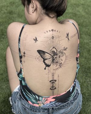 to love,live and grow #backtattoo #finelinetattoo #singleneedletattoo #finelinebacktattoo #singleneedle