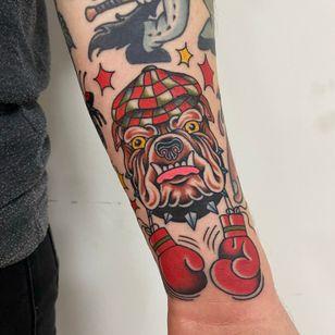 Dog tattoo by Christian Haycock #ChristianHaycock #dog #boxer