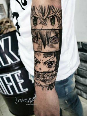 😊 colección de personajes favoritos🔥  #animetattoo #meliodas #sasuke #tanjiro #axcel #tunjatattoo #tunja #tatuajestunja #tatuajesboyaca #DonovanTattoos
