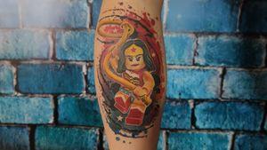 Wonder women lego watercolor