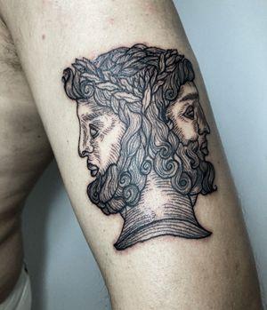 ✺ Jano ✺ . . . #tattooapprentice #tattoolisboa #tattoo #engravingtattoo #engravingstylle #tattoo2me #tattooinspiration #tattooink #tattooartist #drawing #engraving #drawhandmade #tattoolisbon