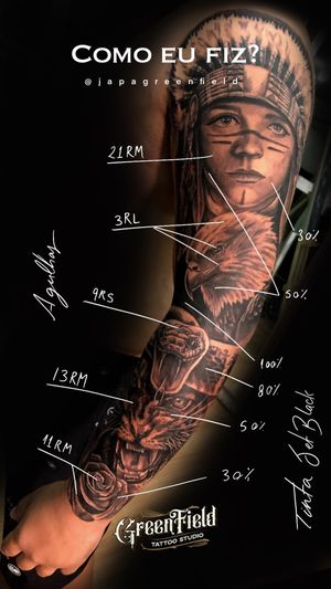 ☠Greenfield Private Tattoo Studio ⠀ 📱Orçamentos: 48 9.91677816⠀ .⠀ .⠀ .⠀ .⠀ .⠀ .⠀ #tattoo #tattooartist #instatattoo #tattooblacrkandgrey #tatuagem #tattoo #easyglow #easyglowpigments