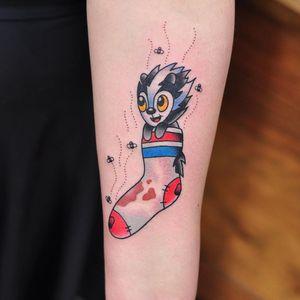 Stinky Skunk By Kane Berry @kane_berry_tattoo