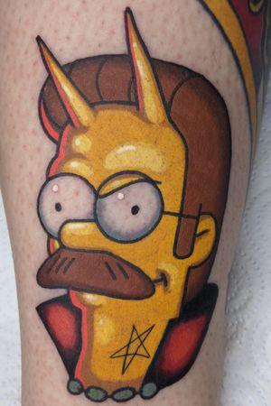 Ned Flanders Demonized #simpsons #simpsontattoo #halloween #flanders