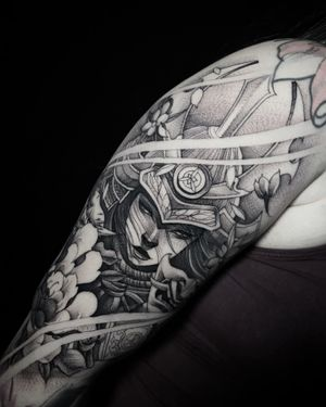 Female Samurai done at HapsFlow Tattoo Studio, in Hawaii.