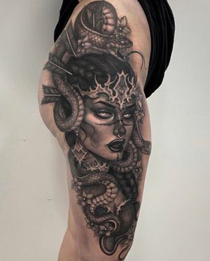 Valkyrie tattoo done in 1 session!